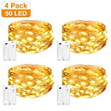 LED Lichterkette Batterie [4 Pack], Litogo Lichterketten für Zimmer,5m 50er Micro LED Lichterkette...