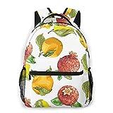 Sac à dos Multi leisure backpack,Vitamin C Seasonal Orange Pomegranate Lemon, travel sports School bag for adult youth College Students
