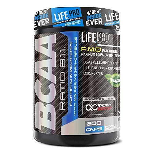 Life Pro BCAA Pro 8:1:1 1000 mg Ajinomoto para el crecimiento y recuperación...