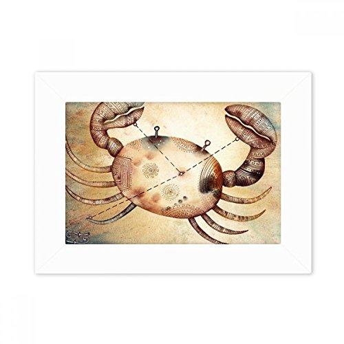 DIYthinker juni juli Kanker sterrenbeeld Zodiac Desktop fotolijst wit beeld kunst schilderij 5X7 Inch