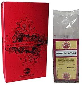 SABOREATEYCAFE The Flavour Shop Infusión Natural Granel de Frutas del Bosque Te de Frutal 100 Gramos