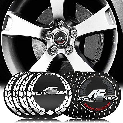 4 piezas rueda coche Llanta centro Hub Cap Badge Trim Sticker Tapas centrales para BMW AC SCHNITZER M M3 M5 E34 E36 E60 E90 E46 E39 X3 X5, Emblemas cubierta ajuste automático vehículo, 56MM