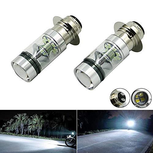 For Kawasaki Bayou 220 300 KFX 400 KLX 250R 300 Lakota Prairie 360 400 100W Xenon White High Power H6 LED Headlights Bulbs (2PCS)