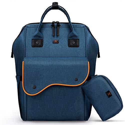 Pomelo Best Rucksack Unisex Freizeit Rucksack Schulrucksack mit Laptopfach für Arbeit Wandern Business Reisen Camping (Blau)