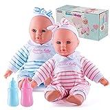 Prextex Baby-Twin Dolls Set - 12-Zoll-Junge und Mädchen Weicht Puppe Set mit rosa und blauen...