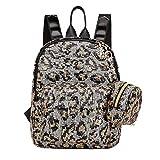 ACIL 2 unids/set lentejuelas leopardo impresión mochila embrague mujer viaje hombro escuela bolsas para adolescentes niñas, B