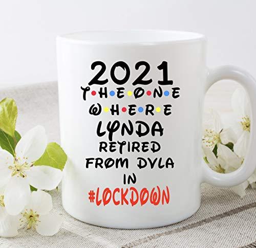 DKISEE Taza de café blanco de 15 onzas 2021 The One Where Retired From Personalizado Taza de regalo de cumpleaños divertido regalo de jubilación en casa oficina taza de té