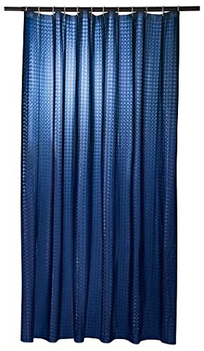 Miomare Duschvorhang in 3D Optik, inkl. Ringe, 180 x 200 cm (dunkelblau)