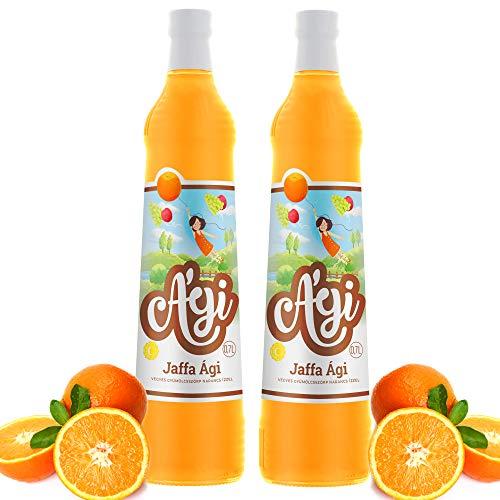 Agi Fruchtsirup Orange Geschmack | Getränke Sirup in Glasflaschen | mit Zucker und Vitamin C | mit 33% Fruchtgehalt | Soda Sirup ideal mit Wassersprudler-Systemen 2erPack(2x700ml)
