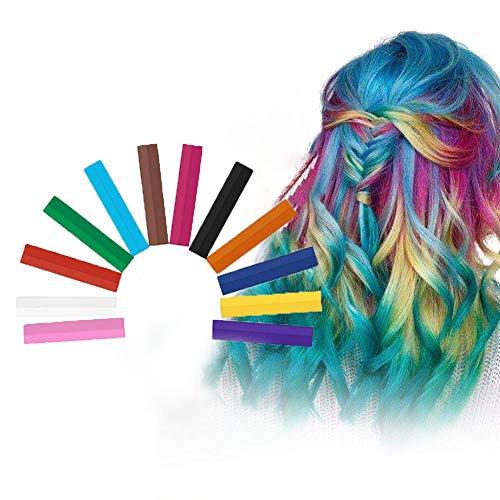 Haarkreide, Hair Chalk, Haarkreide Kinder, Hair Dye Pen, Waschbare Haarfarbe, Ungiftig waschbare Haarfarbe, Für Kinder Haarfärbeparty, Cosplay - 12 Farbe