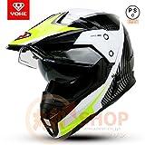 バイクヘルメット ヘルメット フルフェイスヘルメット オフロード ダブルシールド YH-628[07.商品7/L]