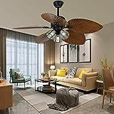 Ventilador de techo de hojas de palma, 52 pulgadas, interruptor de 3...