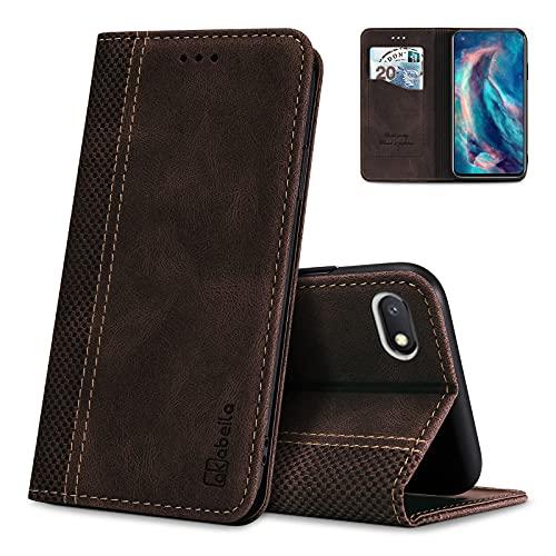AKABEILA Hülle für Xiaomi Redmi 6A Handyhülle Leder Flip Hülle Ständer PU Brieftasche Schutzhülle Klapphülle Tasche Hülle mit [Kartenfach] [Standfunktion] [Magnetisch]