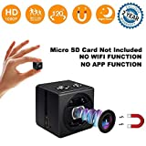 Mini Spy Camera cop cam-HD 1080P Portable Small Nanny Cam Surveillance Magnetic Security Camera with Night Vision/Motion Detection Perfect Indoor/Outdoor Surveillance Camera Home Car Office (Black)