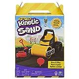 Kinetic Sand 6056481 Pave Play Construction Set with Vehicle Black, for Kids Aged 3 and Up Pavé-und Spiel-Bauset mit Fahrzeug und 227g schwarzem kinetischen Sand für Kinder ab 3 Jahren