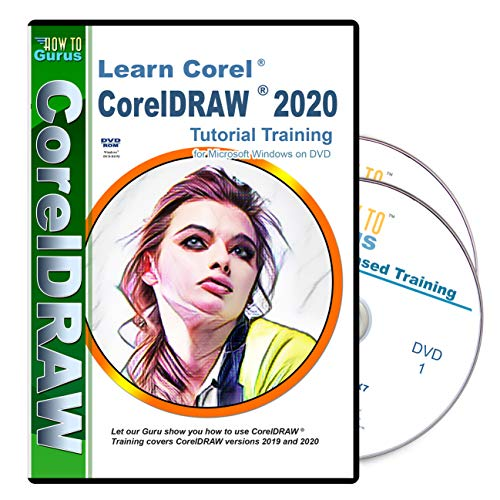 Training for Corel CorelDRAW 2020 on 2 DVDs over 11 hours 175 videos