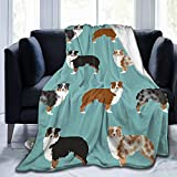 NOT Australian Shepherds Dogs Flannel Blanket Super Soft and Comfortable Fuzzy Luxury Warm Plush Microfiber Blanket Suitable for Bed Sofa Travel Four Seasons Blanket, 50'' x 40''
