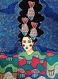 Vfvozr DIY Pintar por Numeros para Mujer Adultos Niños Ciudad Chica Lienzo de Bricolaje Pintura al óleo con Pinceles y Pinturas 40x50cm Sin Marco
