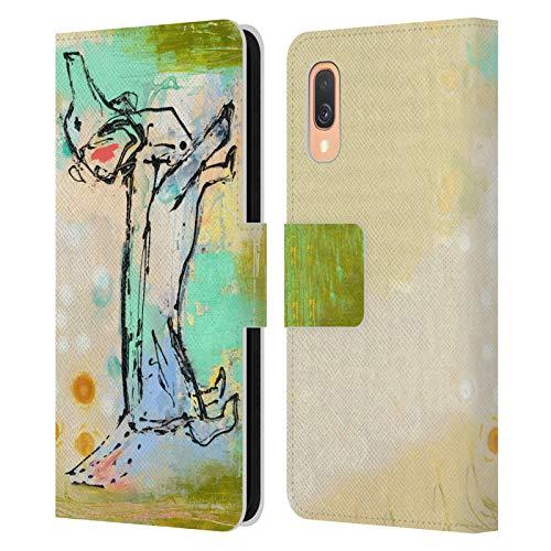 Head Case Designs Offiziell lizenzierte Wyanne Hund Skizze Tiere Leder Book Wallet Case Cover kompatibel mit Samsung Galaxy A40 (2019)