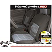 PREMIUM 12V HEATED SEAT COVER FOR CAR VAN UNIVERSAL SIZE CARBON HEATING GREY