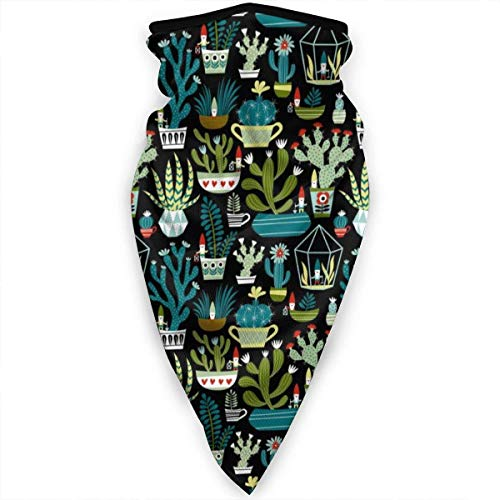 NA Balaclava gezichtsmasker, multifunctionele hoofddekselhals voor mannen, 3D-stofmasker zon UV-stof winddicht vetplanten Cactus Cacti Terrarium