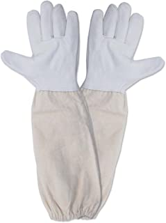 KINGLAKE Beekeeping Gloves Goatskin A Pair of Beekeeping Protective Gloves with Vented Sleeves Large Perfect for The Beginner Beekeeper