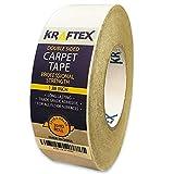 Kraftex(クラフテックス) 滑らない カーペット両面テープ, 90ft (27.4m)