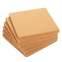juvale - set di 6 sottopentola in sughero, quadrati in sughero, per pentole calde, padelle e bollitori, 17,5 x 19,5 x 19,5 cm