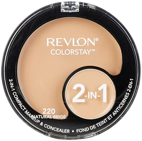 REVLON PROFESSIONAL ColorStay 2-in-1 Compact Makeup & Concealer, Natural Beige , 1er Pack (1 x 11 g)