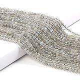 Colgantes Beads pequeños perlas de piedra natural Flash Labradorite 2 3mm Sección Perlas sueltas BRICOLAJE Accesorios de pulsera Collars ( Color : Flash Labradorite , Item Diameter : 3mm one strand )