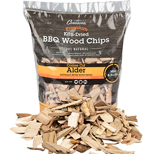 Camerons Products Alder Wood Smoker Chips ~ (2lb. Coarse), 260 cu. in. – 100%