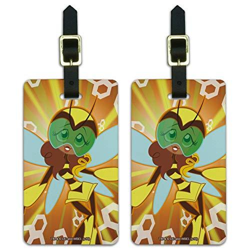 DC Super Hero Mädchen Hummel Gepäckanhänger Koffer Handgepäck Karten – Set von 2