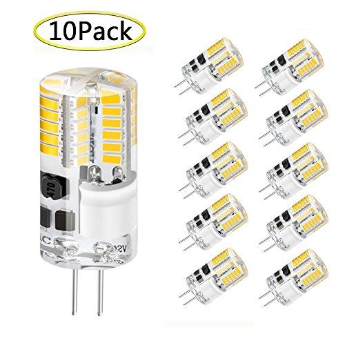 G4 LED Lampen, WXY 3W 48 x 3014 SMD ersetzen 30W Halogenlampe gleichwertig, AC/DC 12V, 360 ° Abstrahlwinkel, Warmweiß 3000K, nicht dimmbar Silikon LED Glühbirne, Packung mit 10