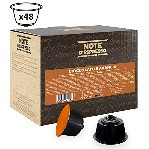 Note D'Espresso - Cápsulas de chocolate a la naranja Exclusivamente Compatibles con cafeteras de cápsulas Nescafé* y Dolce Gusto* 14g (caja de 48 unidades)
