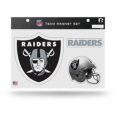 NFL Rico Industries  Die Cut Team Magnet Set Sheet, Oakland Raiders