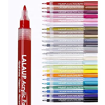 LALAUP Paint Pens, Acrylic Paint Markers for Ro...