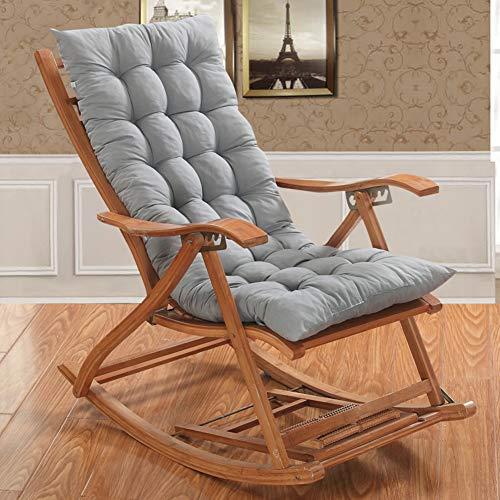 OR&DK Soft Cuscino Sedia a Dondolo Senza Sedia, Antiscivolo Cuscino per Sedia Spessa e Lunga Cuscino per sedie Pieghevoli con Cinturino-C 48x120cm(19x47inch)