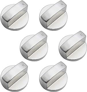 DXLing 6 Pièces Boutons de Commande Universels en Métal Bouton Cuisinière à Gaz 6mm boutons de contrôle universels bouton ...