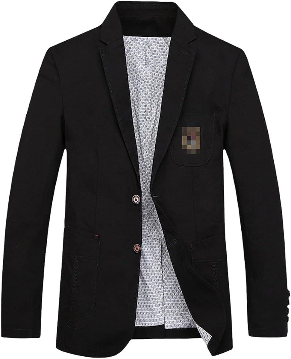 DFLYHLH Casual Suit blazerack Men's Suit Jacket Cotton Denim Jacket Clothes Fashion Street Men's Clothing