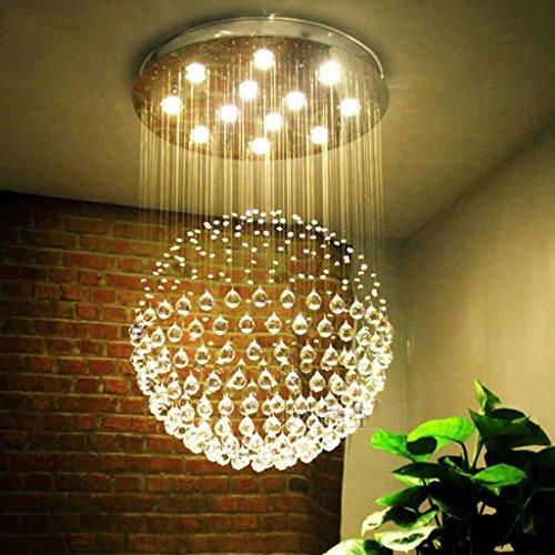 Kroonluchter van kristalglas, trapgeleider, voor slaapkamer, ladder, voor kleding, keuken, kroonluchter binnen (kleur: effen, LED 40 x 60 cm)