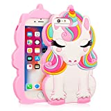 "Coralogo for iPhone 8 Plus/7 Plus/6S Plus/6 Plus Case, 3D Cute Cartoon Funny,Silicone Character Shockproof Kawaii Fun Cover Cases for Girls Kids iPhone 6 Plus/6S Plus/7 Plus/8 Plus 5.5""(Color Unicorn)"