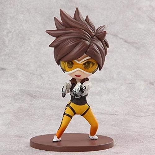 Anmine Toys Q Version Engel Widowmaker Tracer 10cm-Anime Figuren Sammlung Statue Modell Kinder Spielzeug Geschenk
