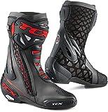 Botas de Moto TCX RT-Race Negro/Rojo, Negro y Rojo, 44