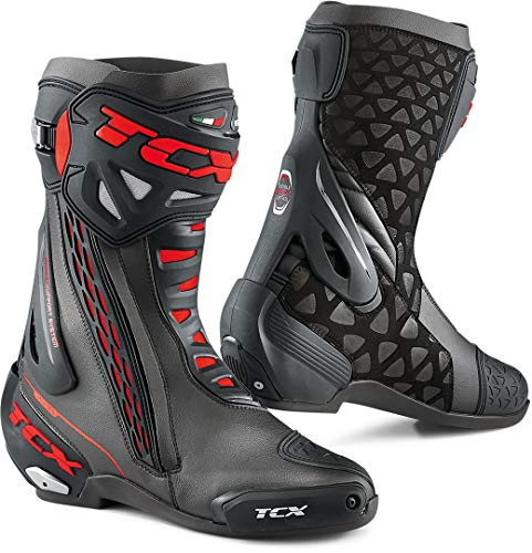TCX RT-RACE Motorradstiefel schwarz/rot, schwarz/rot, 45