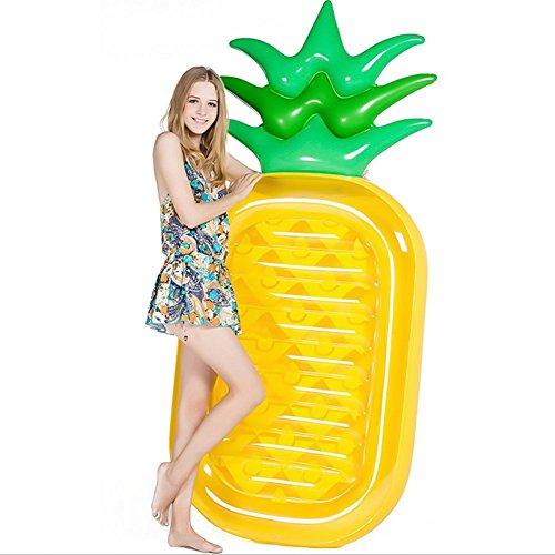 Queta Amaca galleggiante ad acqua, gonfiabile, a forma di ananas, galleggiante, per estate, piscina, spiaggia, mare per adulti e bambini (Tipo-2)