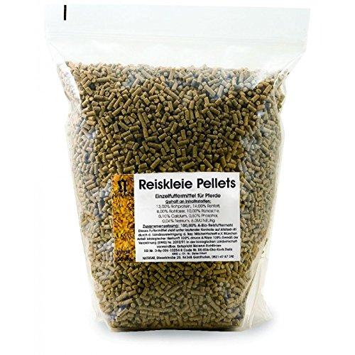 Natusat Reisschalenkleie Pellets Stärkearm 15 kg - Energiequelle, Einzelfuttermittel für Pferde, melassefrei, Vitamin E, PSSM Pferde