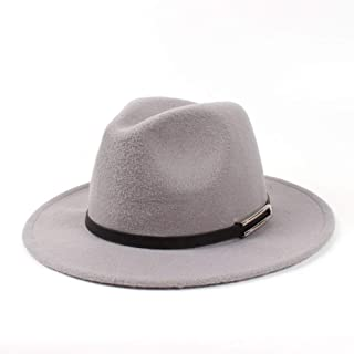 Lei Zhang Men Women Authentic Wool Fedora Hat Dance Party Hat Casual Wild Hat Panama Hat Size 56-58CM