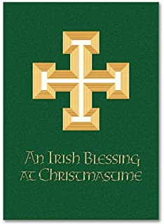 Irish Blessing Celtic Deluxe Religious Xmas Holy Greeting Card with Envelope