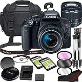 Canon EOS Rebel T7i DSLR Camera Bundle with 18-55mm STM Lens | Built-in Wi-Fi|24.2 MP CMOS Sensor | |DIGIC 7 Image Processor and Full HD Videos + 64GB Memory(17pcs)