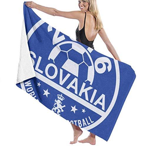 XCNGG Euro 2016 Fútbol Eslovaquia Slovensko Disc Toalla de baño Azul Calidad de Hotel de Cinco Estrellas. Toalla de baño de la colección Premium. Suave, Felpa y Muy Absorbente (1 Toalla de baño de 31